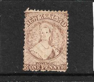 NEW ZEALAND 1873  1d  BROWN   FFQ  MNG  P12 1/2    CP A1Q3   SG 132a  CHALON