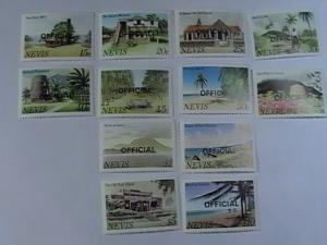 NEVIS # O11-O22-MINT/NEVER HINGED-COMPLETE SET--OFFICIALS--QEII-1981