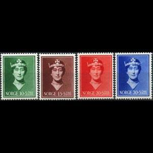 NORWAY 1939 - Scott# B11-4 Queen Set of 4 NH