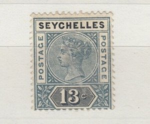 Seychelles QV 1890 13c Grey Black SG13 MH J6390