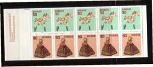 Sweden Sc 1268a 1978 90 o Christmas stamp bklt of 10 mint NH