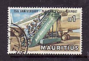 Mauritius-Sc#387- id5-used 1R-Planes-Airport-1971-