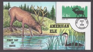 **US FDC SC# U663, Washington, DC 5/2/2008 American Elk Collins