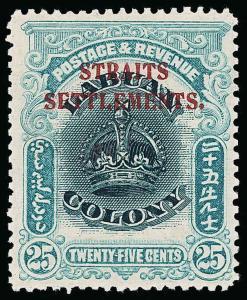 Straits Settlements Scott 142 Variety Gibbons 149a Mint Stamp