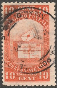 MEXICO G7, 10¢ INSURED LETTER. USED. F-VF (1095)