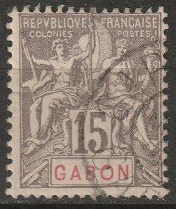 Gabon 1904 Sc 21 Yt 21 used
