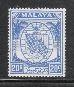 Malaya Negri Sembilan 1949 Sc 50 20c ultramarine MH