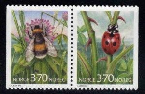 Norway Scott 1146-1147 MNH**  Bug stamp pair