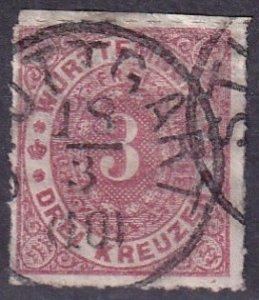 North German Confederation #9 F-VF Used CV $3.25 (Z3106)