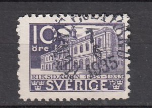 J26398  jlstamps 1935 sweden hv of set used #240 stock exchange