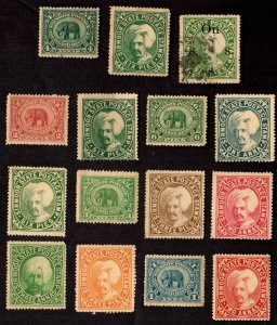 15 SIRMOOR (INDIAN STATE) Stamps