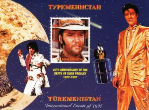Turkmenistan 1997 Elvis Presley/Halley's Comet SS Perforated MNH VF