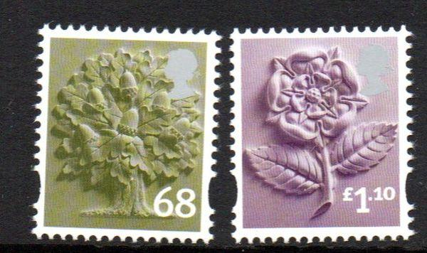 Great Britain England Sc 24-5 2011 68p tree & £1.10 rose stamp set mint NH