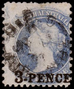South Australia Scott 44j (1867) Used G, CV $90.00 M