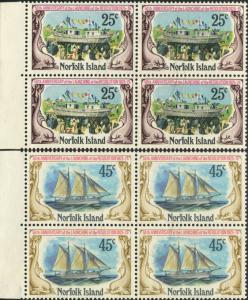 Norfolk Island 1975 SG170-171 Launching of Resolution set blocks FU
