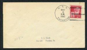 US THORNTON 05/06/1941 TO PHOEBUS VA AS SHOWN (38)
