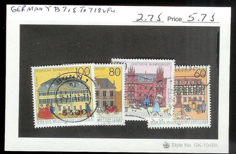 GERMANY Sc#B715-718 USED SET