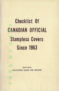 Canada Philatelic Reference: Pekonen on Stampless Covers Since 1963