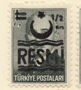 Turkey 1955-56 Optd Resmi Star Crescent Fine Mint Hinged 1/2k. Surcharged 085994