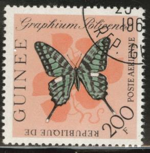 Guinea Scott C48 used CTO 1963 Butterfly stamp CV$2