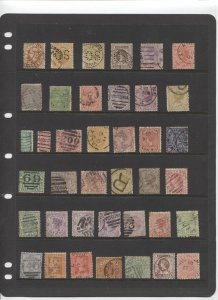 STAMP STATION PERTH Victoria #11 QV Definitive Selection of 39 Used Stamps