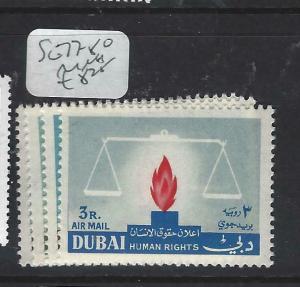 DUBAI   (P1404B)   HUMAN RIGHTS  SG 77-80   MNH
