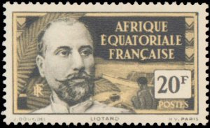 French Equatorial Africa #72, Incomplete Set, High Value, 1937, Hinged