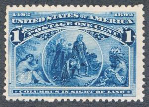 UNITED STATES (US) 230 MINT NH F-VF 1c COLUMBIAN