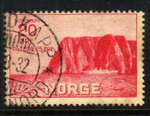 Norway Sc B2 1930 20 + 25 ore North Cape stamp used