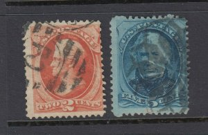 #178-179 Hard Paper 2c-5c Banknote set (USED) cv$40.00
