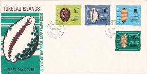 Tokelau #  41-44, Cowrie Shells, First Day Cover