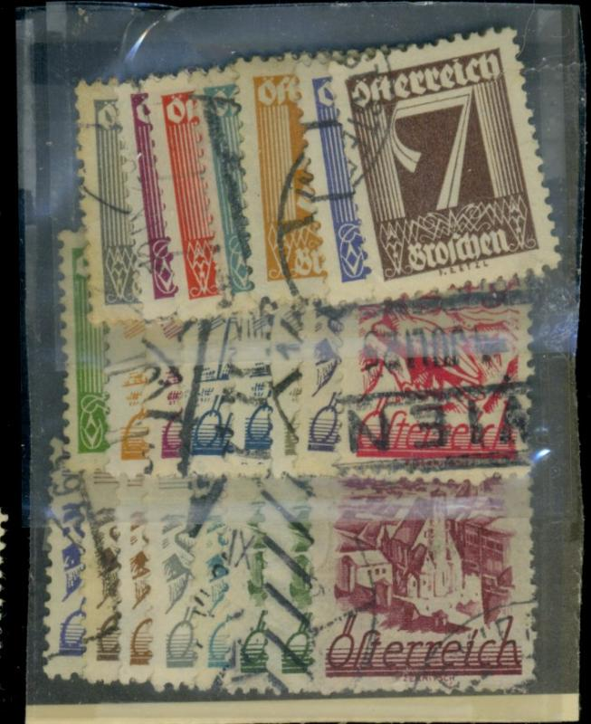 Austria #303-23 23a-24 Used F-VF Cat$36.50