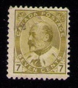 CANADA Sc 92 Bister Yellow No Gum Used F-VF