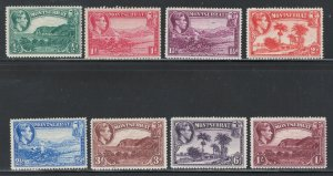 Montserrat 1941 King George VI Pictorials Scott # 92 - 99 MH