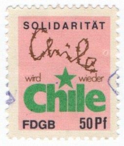 (I.B) East Germany Cinderella : FDGB Union Dues 50pf (Chile)