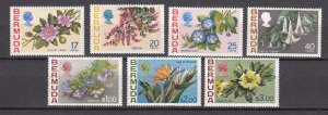 J26604 JLstamps 1975 bermuda set mlh #322-8 flowers