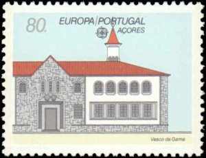 Portugal-Azores #389, Complete Set, 1990, Europa, Never Hinged