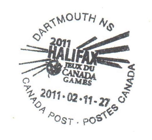 Canada Special Cancel from Canada Post - Dartmouth NS - 2011-02-11 to 27