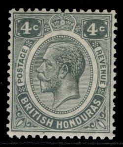 BRITISH HONDURAS GV SG130, 4c grey, LH MINT. Cat £22.