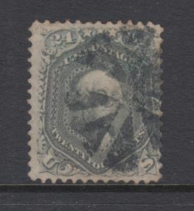 US Sc 78b used 1862 24c gray Washington, Rosette Fancy Cancel, sound & scarce