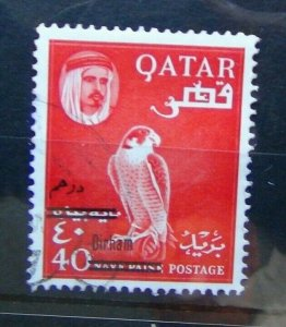 Qatar 1966 40d on 40np Red SG145 Fine Used