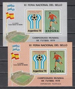 Argentina, 1978 Cinderella issue. 2 Soccer s/sheets.