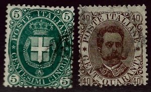 Italy SC#52-53 Used F-VF SCV$20.50...Worth a Close Look!