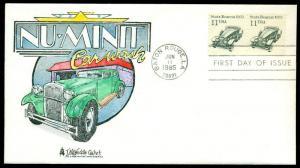 #2131 FDC 6/11/1985 BATON ROUGE, LA HAND PAINT BY TM WEDDLE CACHET BU859