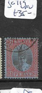 MALAYA PERAK (P1101B) SULTAN $1.00  SG 119   VFU