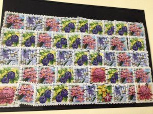 Singapore Flowers used duplicated Stamps  Ref 54864