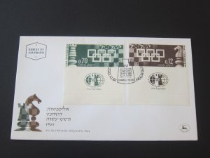 Israel 1964 Sc 269-70 set FDC