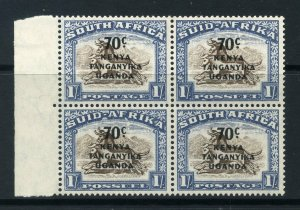 KUT 1941 o/p on 1/- South Africa BLOCK of 4 SG 154 mint