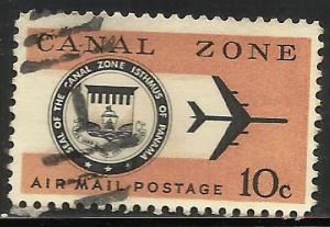 Canal Zone Air Mail 1968 Sott# C48 Used