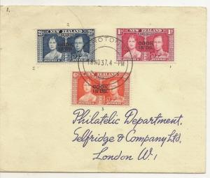Cook Islands 1937 Coronation Cover